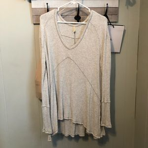 free people long sleeve light weight shirt